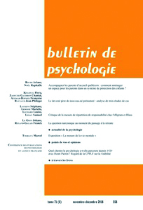 Bulletin de psychologie. Varia