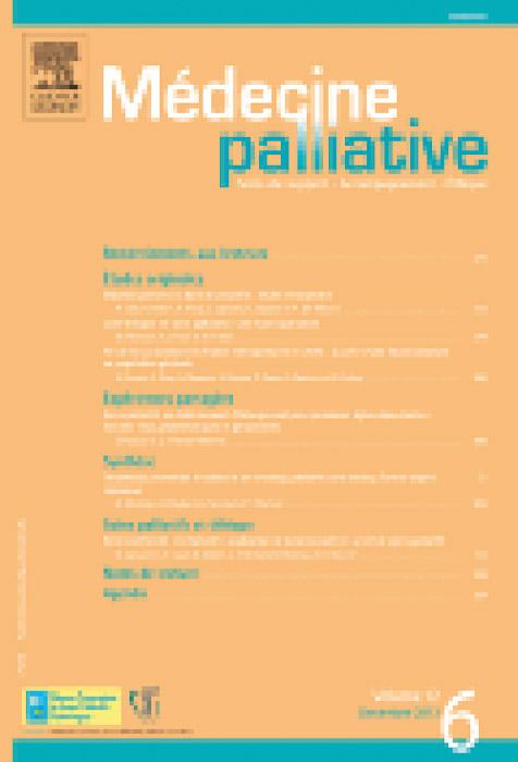 Médecine palliative Vol. 12