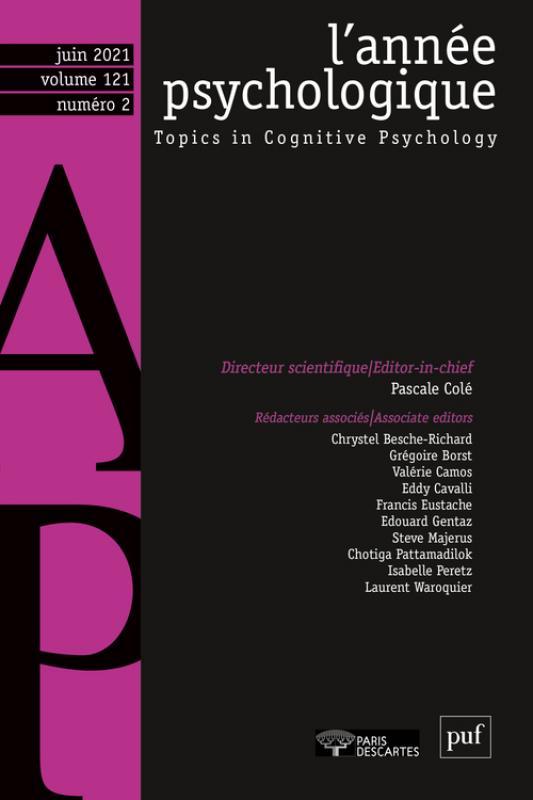 L'année psychologique n° 121-2