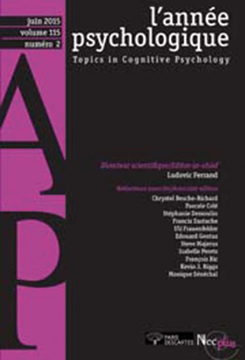 L'année psychologique. Article « Le vieillissement neurocognitif : entre pertes et compensation »