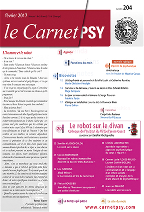 Le carnet psy dossier le robot sur le divan le for Divan journal