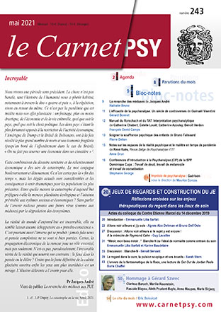 Le Carnet Psy. Dossier « Jeux de regard et construction du Je »