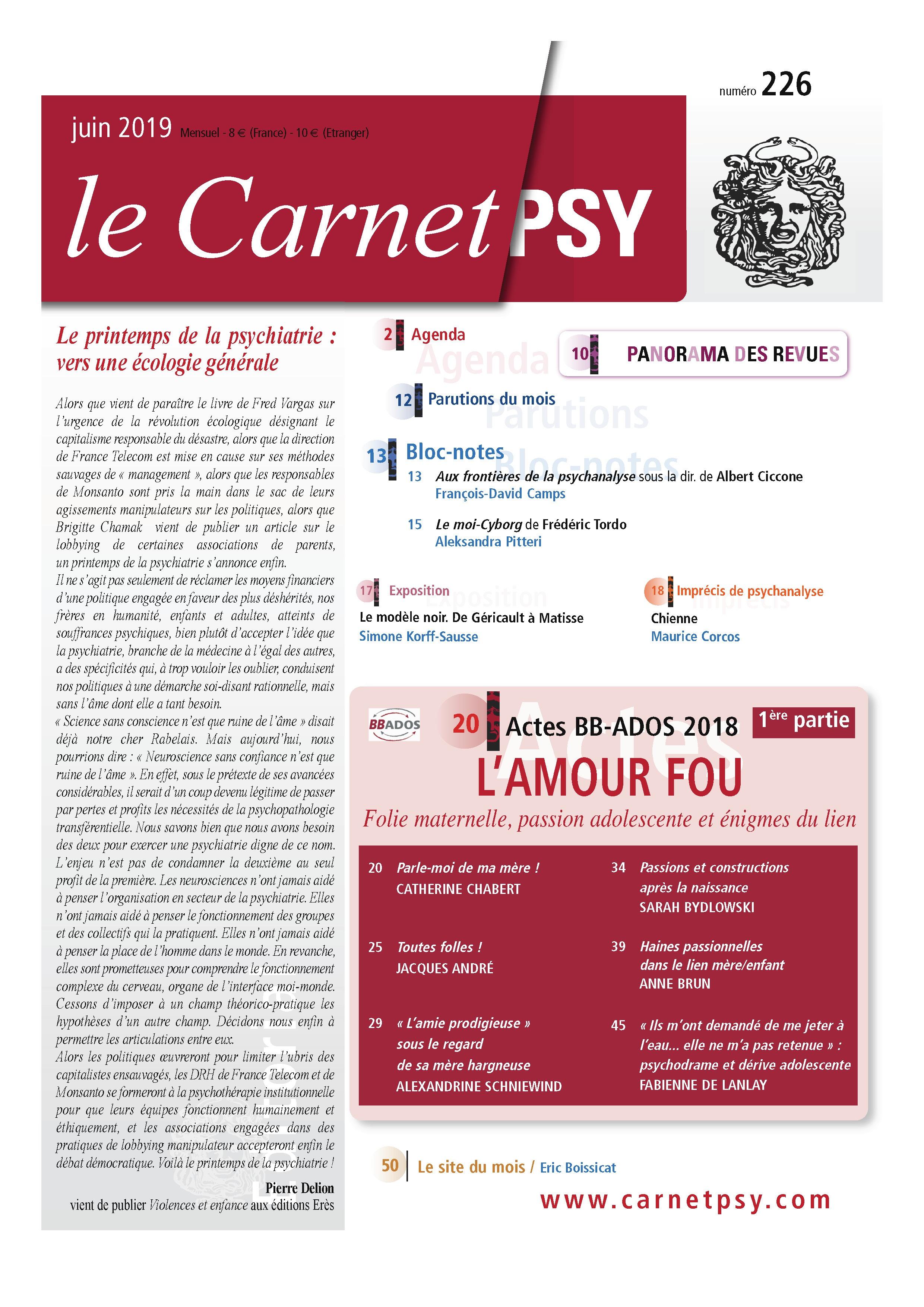 Le Carnet Psy n° 226