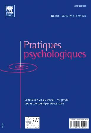 Pratiques psychologiques. Dossier « Conciliation vie au travail-vie privée »