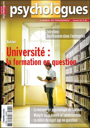 Le Journal des psychologues n°280
