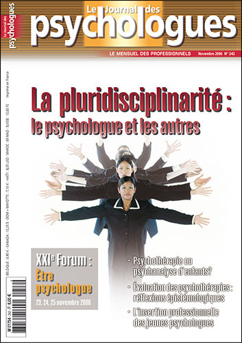 Le Journal des psychologues n°242