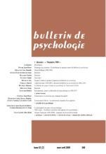 Bulletin de psychologie. Dossier « Numéro 500 »