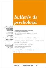 Bulletin de psychologie. Varia