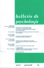 Bulletin de psychologie
