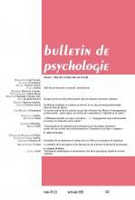 Bulletin de psychologie. Dossier « Mal-être et bien-être au travail »