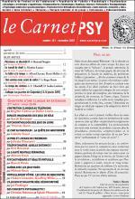 Le Carnet psy. Dossier « Chantiers d'une clinique en extension »