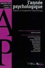 L'année psychologique Vol. 113