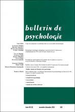 Bulletin de psychologie n° 528