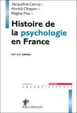 Histoire de la psychologie en France XIXe – XXe siècles