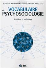 Vocabulaire de psychosociologie. Positions et références